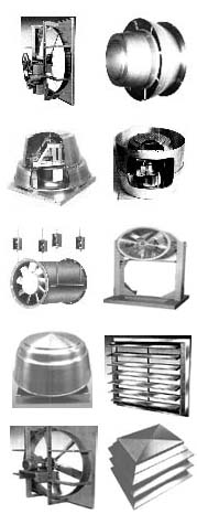Sales of industrial fans & blowers, high pressure blowers, centrifugal fans, axial ventilators, roow and wall exhaust and supply fans, material handling blowers & radial fans, scroll cage fan ventilators, high temperature fans and blowers, New York Blower, Twin City Fan / Aerovent, Chicago Blower fans, Peerless Fans, Dayton Ventilators, Sheldons fans & blowers, Canarm Leader ventilators, IAP fans, Industrial Air.